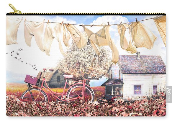 Laundry Day In Soft Vintage Colors Carry-all Pouch