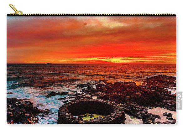 Lava Bath After Sunset Carry-all Pouch