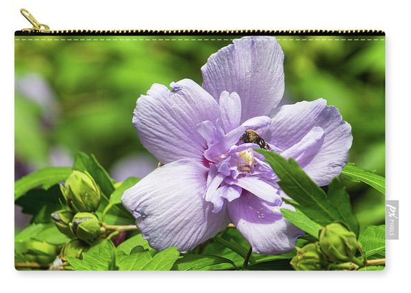 Lavendar Hibiscus Carry-all Pouch