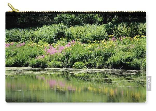 Lavender And Gold Reflections At Chicago Botanical Gardens Carry-all Pouch