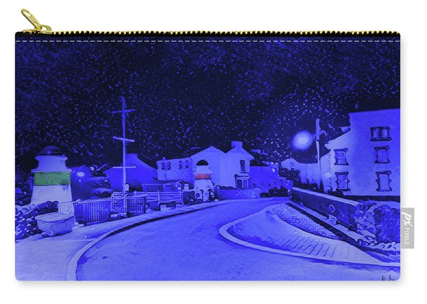Laxey New Bridge In Snow Carry-all Pouch