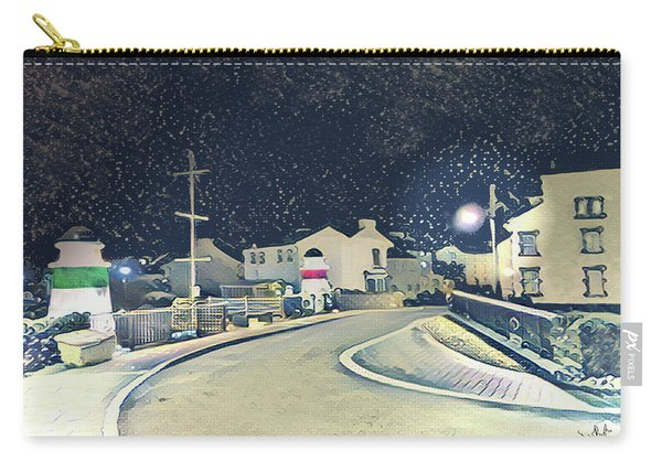 Laxey New Bridge On A Winter's Night Carry-all Pouch