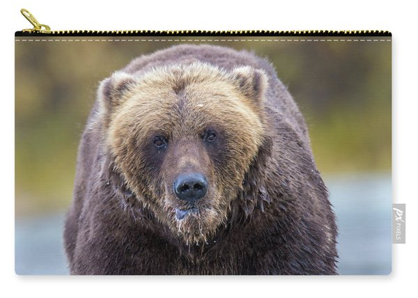 Lazy C Angry Bear  Carry-all Pouch