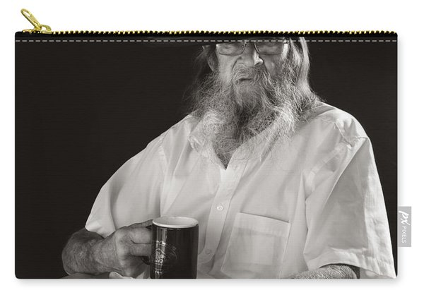 Carry-all Pouch featuring the photograph Le Poete by Ron Cline