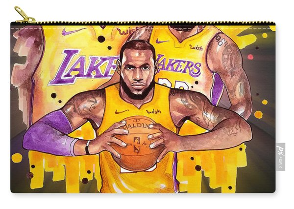 Lebron James, Los Angeles Lakers, Nba Carry-all Pouch