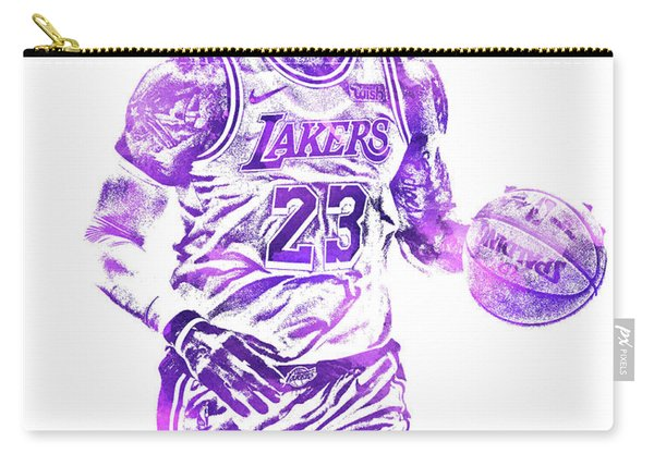 Lebron James Los Angeles Lakers Water Color Pixel Art 31 Carry-all Pouch