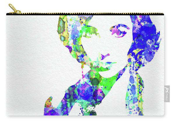 Legendary Elizabeth Taylor Watercolor Carry-all Pouch