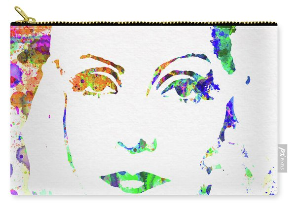 Legendary Ingrid Bergman Watercolor Carry-all Pouch
