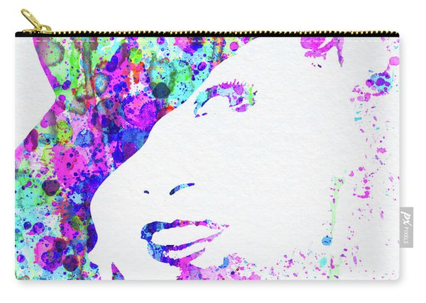 Legendary Marlene Dietrich Watercolor I Carry-all Pouch