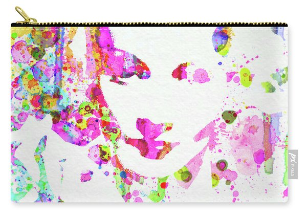 Legendary Marlene Dietrich Watercolor II Carry-all Pouch