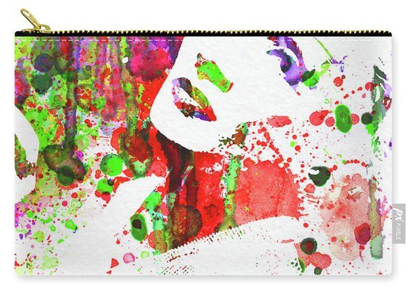 Legendary Marlene Dietrich Watercolor IIi Carry-all Pouch