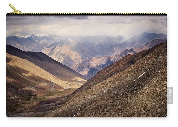 Carry-all Pouch featuring the photograph Leh-manali Mountains by Whitney Goodey