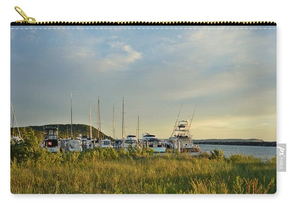 Leland Harbor At Sunset Carry-all Pouch
