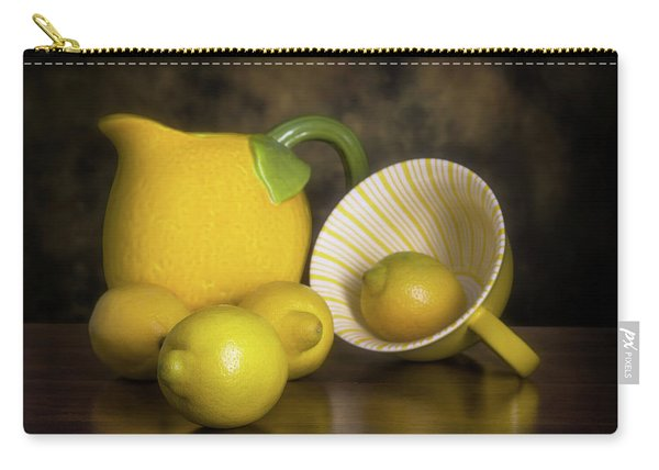 Lemons With Lemon Shaped Pitcher Carry-all Pouch