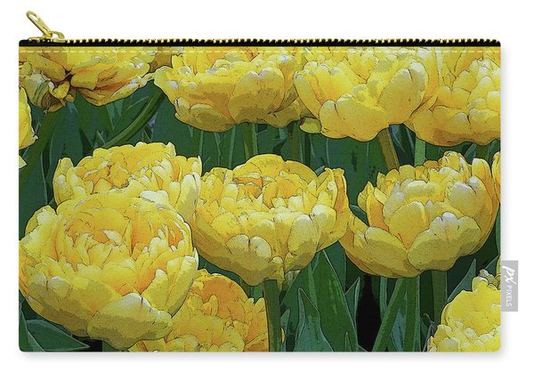 Lemony Yellow Tulips Carry-all Pouch