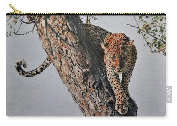 Leopard In Tree Carry-all Pouch
