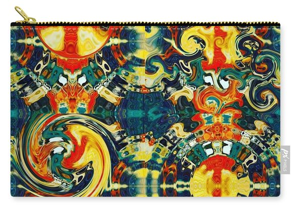 Carry-all Pouch featuring the digital art Les Quatre Elements by A zakaria Mami