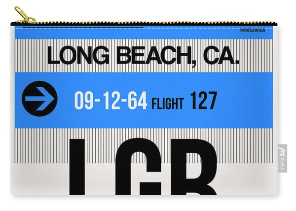 Lgb Long Beach Luggage Tag I Carry-all Pouch