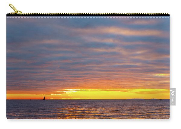 Carry-all Pouch featuring the photograph Light On The Horizon by Jeff Sinon