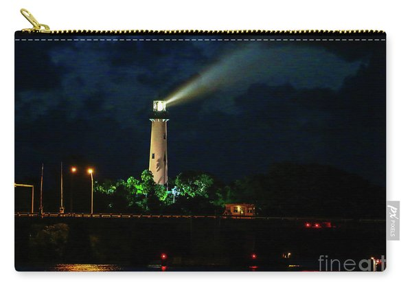 Carry-all Pouch featuring the photograph Lighthouse Lightbeam by Tom Claud