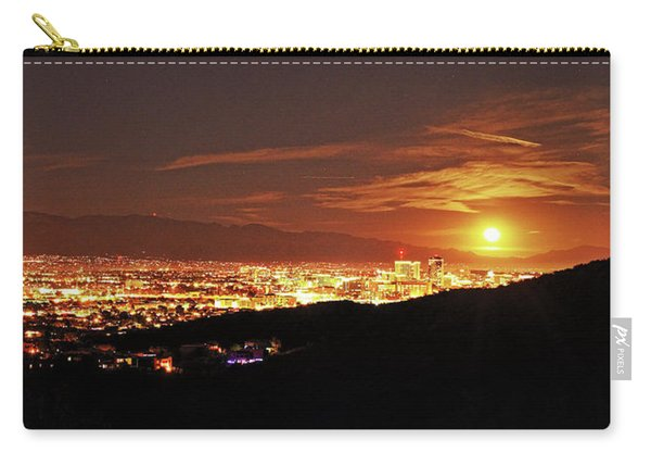 Lights Of Tucson And Moonrise Carry-all Pouch