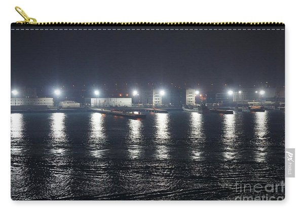 Carry-all Pouch featuring the photograph Lights Over Water by Jimmy Clark