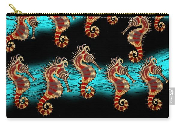 Like Musical Notes Upon The Sea Carry-all Pouch