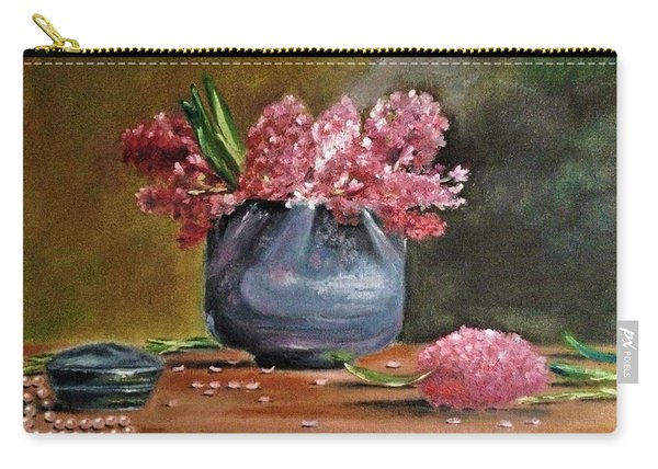 Lilacs And Pearls Carry-all Pouch