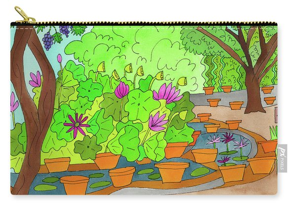 Carry-all Pouch featuring the painting Lilies by Suzy Mandel-Canter
