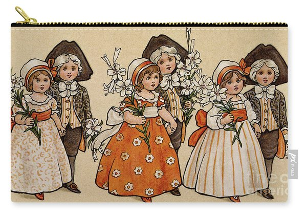 Lilies, Victorian Card Carry-all Pouch