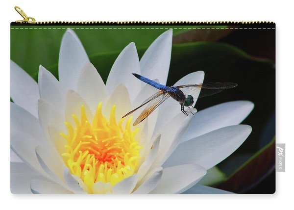Lily And Dragonfly Carry-all Pouch