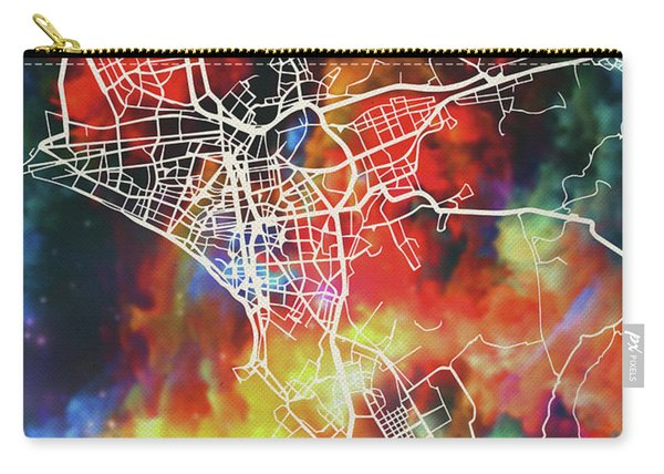 Lima Peru Watercolor City Street Map Carry-all Pouch