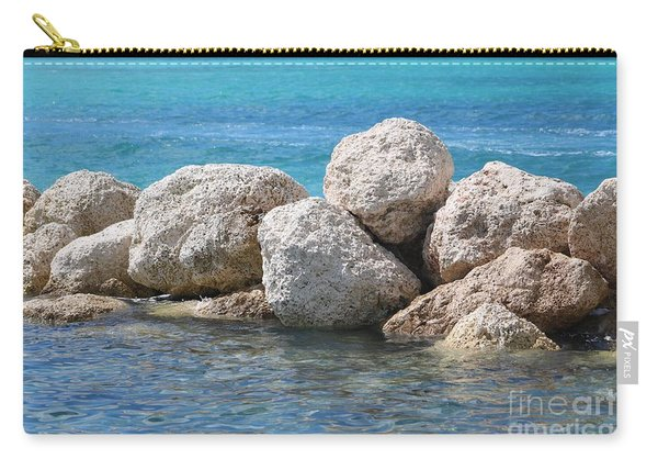 Limestone Boulders In Bahamas Blue Carry-all Pouch