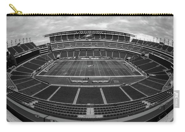 Lincoln Financial Field Black And White Carry-all Pouch