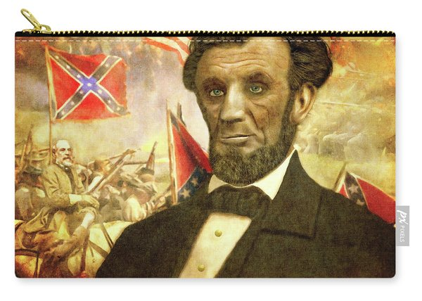 Carry-all Pouch featuring the digital art Lincoln by Mark Allen