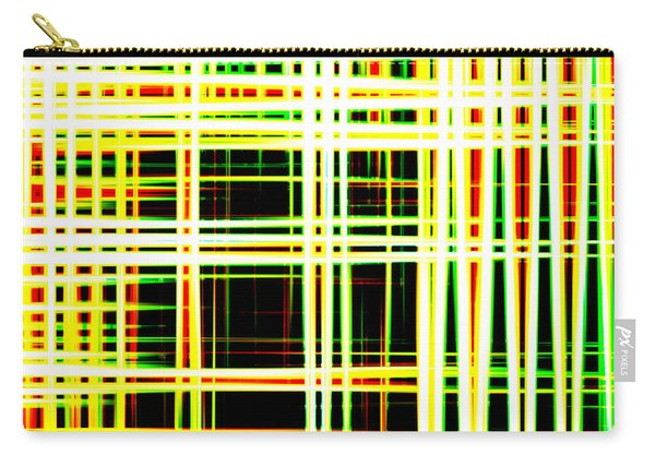 Lines And Squares In Color Waves - Plb418 Carry-all Pouch