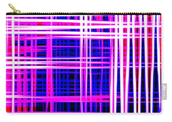 lines and squares in purple Color Waves - PL414 Carry-all Pouch
