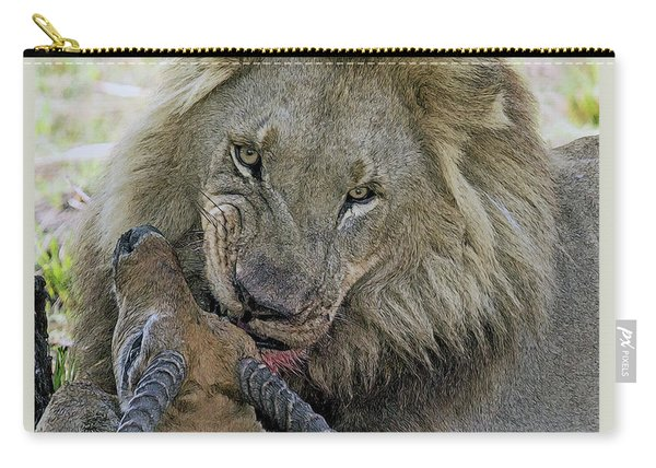 Lion Prey Carry-all Pouch