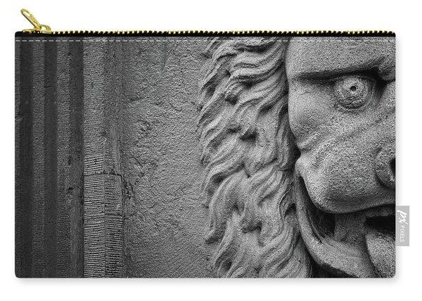 Lion Statue Portrait Carry-all Pouch