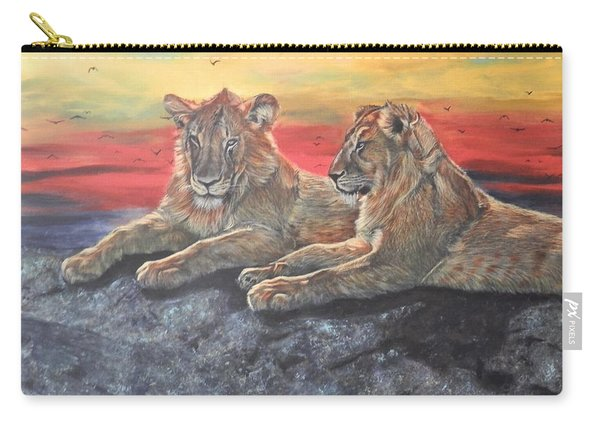 Lion Sunset Carry-all Pouch