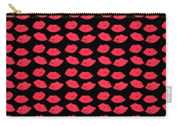 Carry-all Pouch featuring the digital art Lips by Bee-Bee Deigner