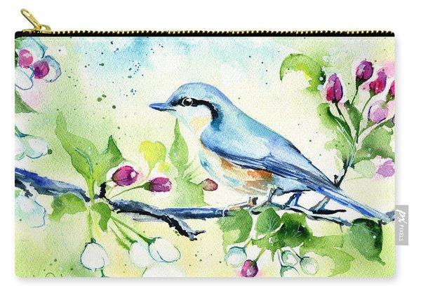 Little Blue Spring Bird Carry-all Pouch