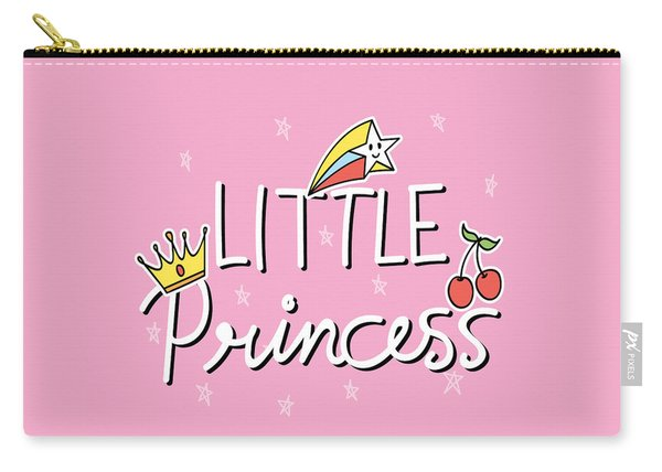 Little Princess - Baby Room Nursery Art Poster Print Carry-all Pouch