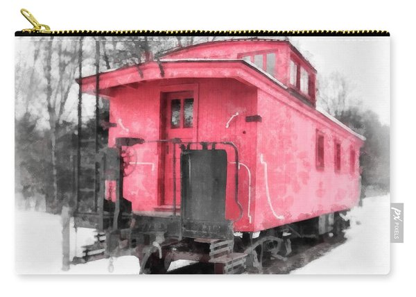 Little Red Caboose Watercolor Carry-all Pouch