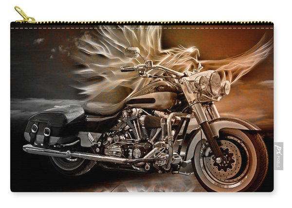 Live To Ride, Ride To Live In Vintage Tones Carry-all Pouch