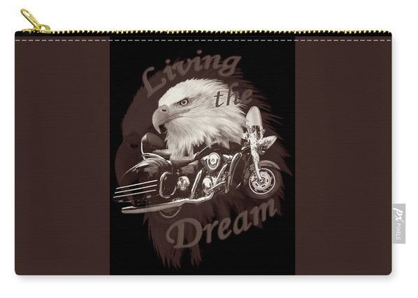 Living The Dream In Vintage Tones Carry-all Pouch