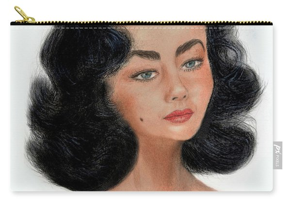 Liz Taylor Caricature II Carry-all Pouch