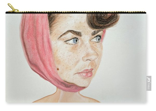 Liz Taylor Caricature  Carry-all Pouch