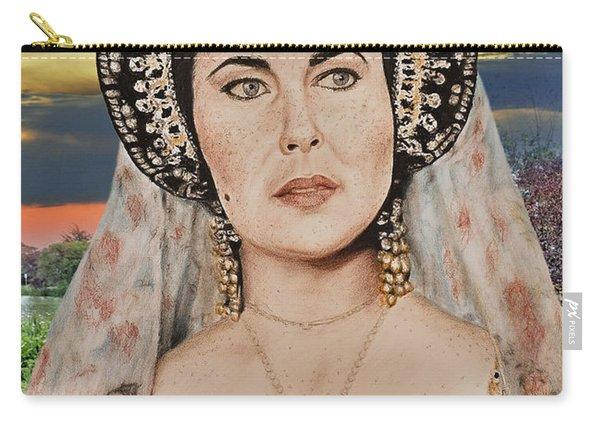 Liz Taylor Renaissance Portrait At Sunset Carry-all Pouch