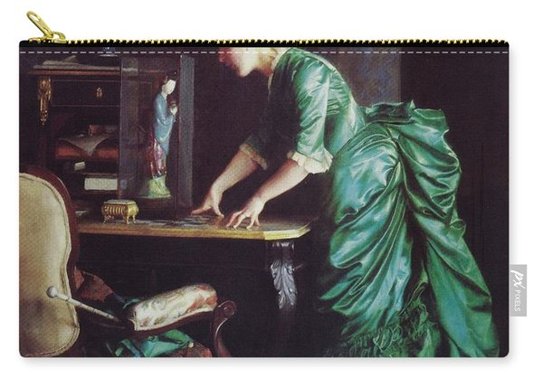 Lizzy Young In Green Carry-all Pouch